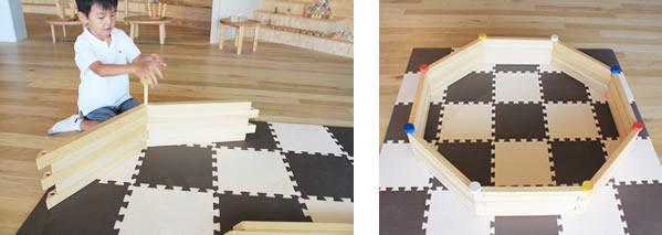 8角形のプールを作る